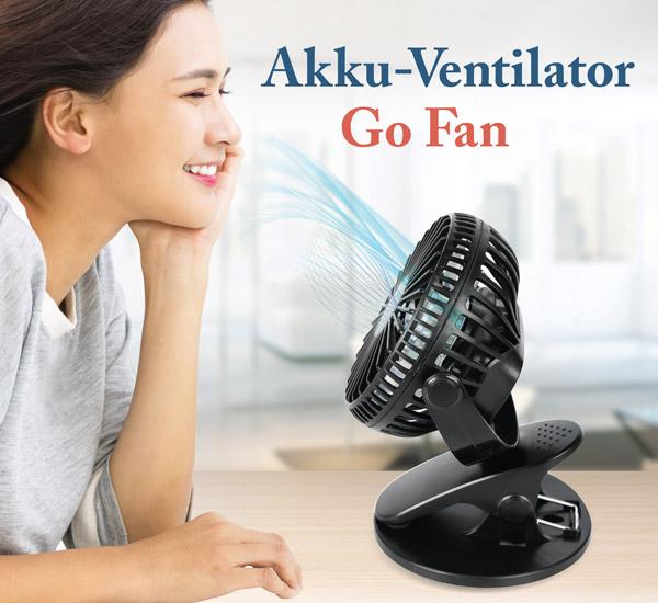 Akku-Ventilator Go Fan